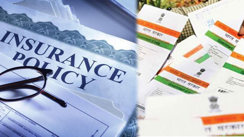 Linking the Insurance Policies to the Aadhar Card