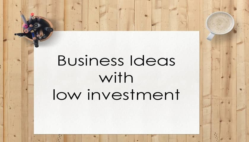 business ideas with low investment in india